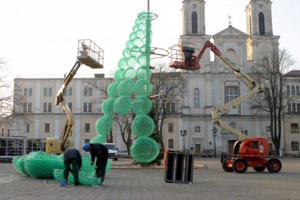 albero natale plastica