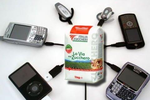 zucchero batterie telefonini