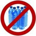 vieta la vendita di bottigliette d'acqua
